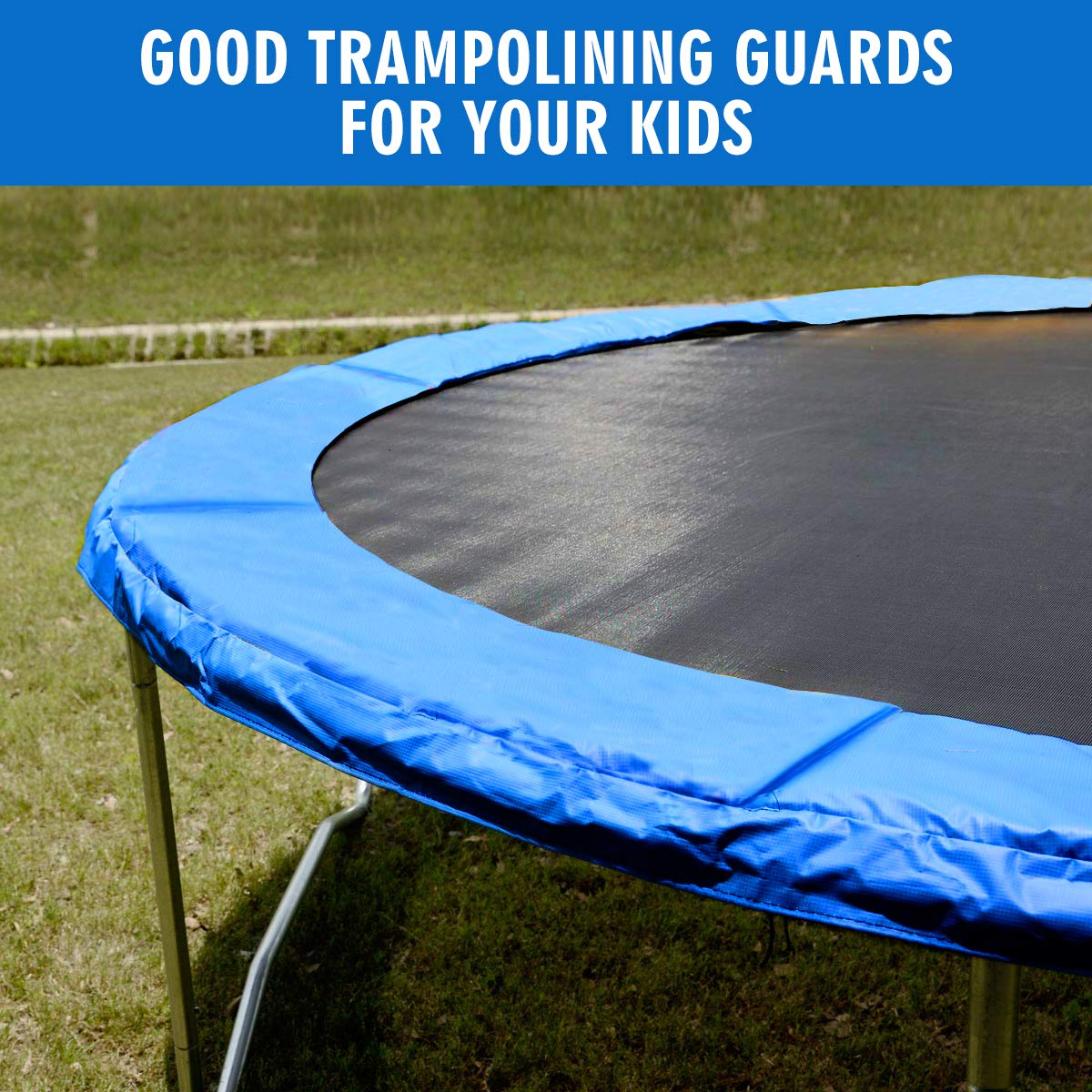 Giantex Trampoline Pad, Exercise Fitness Gymnastics Trampoline,Trampoline Pad Replacement Bounce Frame, Edge Cover Springs Protection Pad, Rebounder Trampoline (Blue, 14 ft) by Giantex (Image #5)