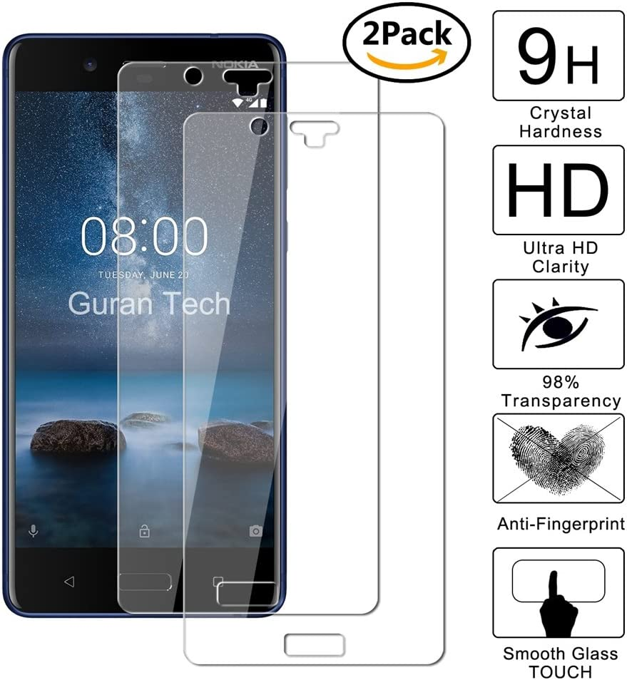 2 Unidades] Guran® Protector de Pantalla Vidrio Cristal Templado Para HOMTOM S8 Smartphone Cristal Vidrio Templado Film: Amazon.es: Electrónica