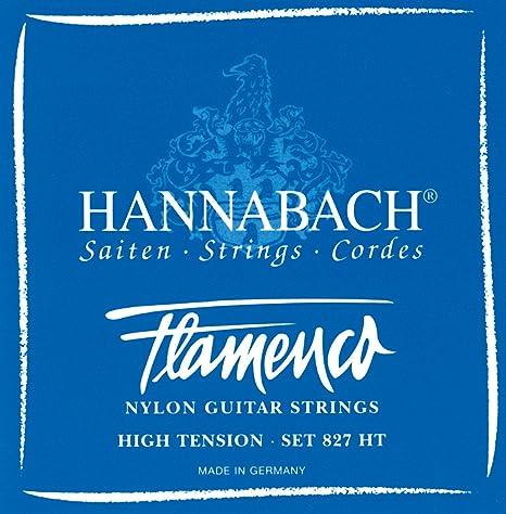 Juego de cuerdas para guitarra flamenca Hannabach 827 HT. Tensión ...
