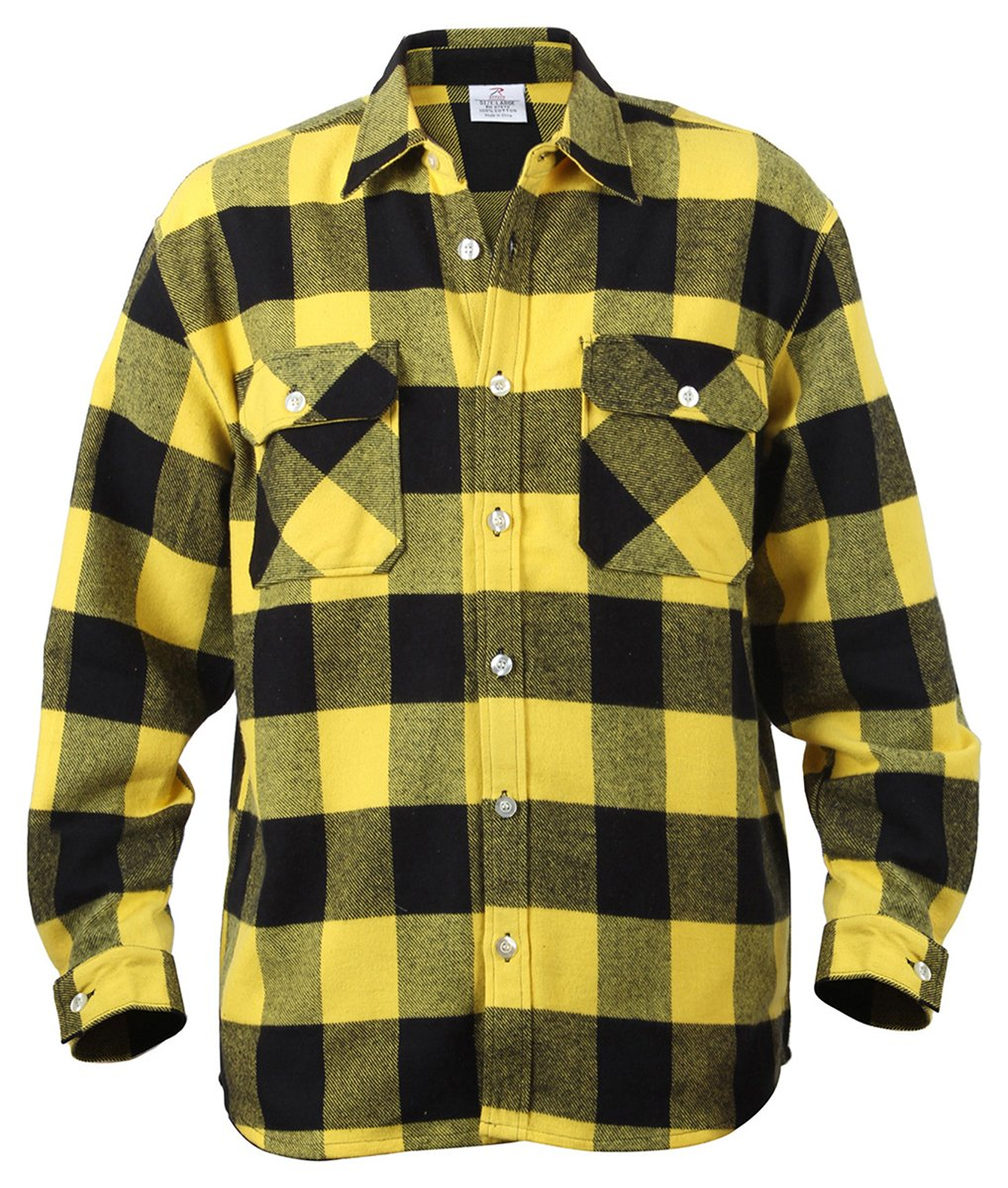 Rothco Heavy Weight Plaid Flannel Shirt 4659LRG