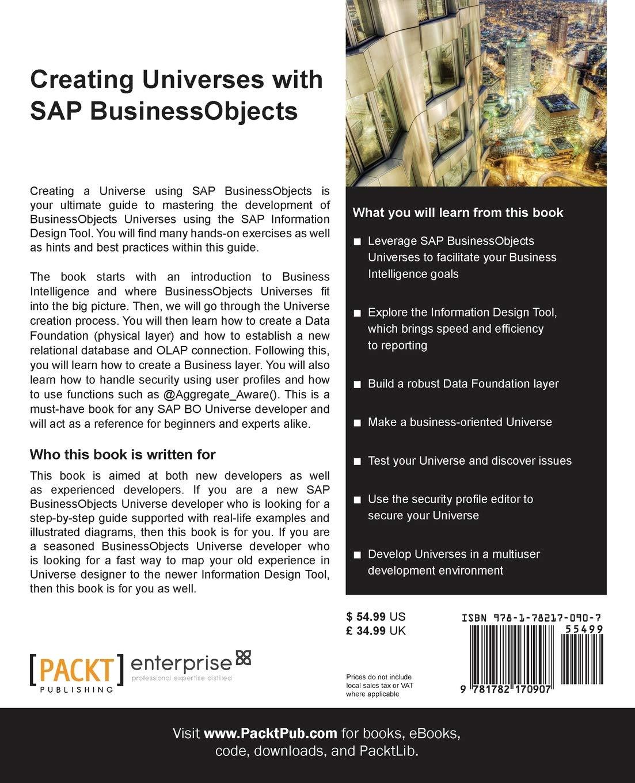 Amazon Com Creating Universes With Sap Businessobjects 9781782170907 Mahmoud Taha M Books