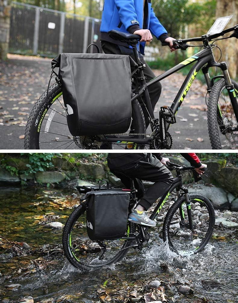 CARACHOME Alforja Bici, Alforjas Bicicleta Multifunción De 20 litros,Bolsa Bici Ultraligera Y Plegable, Bolsa para Bicicleta con Correa De Hombro Alargada: Amazon.es: Hogar