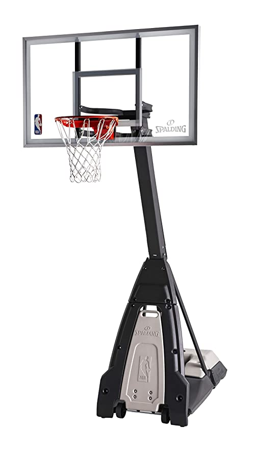 10. Spalding The Beast Portable Basketball Hoop Glass Backboard