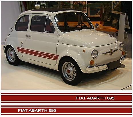 Amazon Com Fiat 500 Abarth 695 Side Decal 2pcs Set Red Automotive