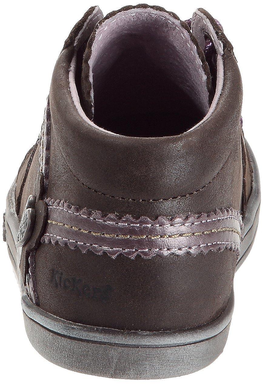 19cb62daff4dfc Kickers Tatiana, Chaussures à lacets bébé fille - Marron/lilas/métal, 18  EU: Amazon.fr: Chaussures et Sacs