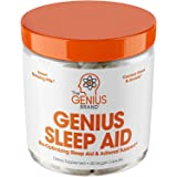 Genius Sleep AID – Smart Sleeping Pills & Adrenal Fatigue Supplement, Natural Stress, Anxiety & Insomnia Relief - Relaxation