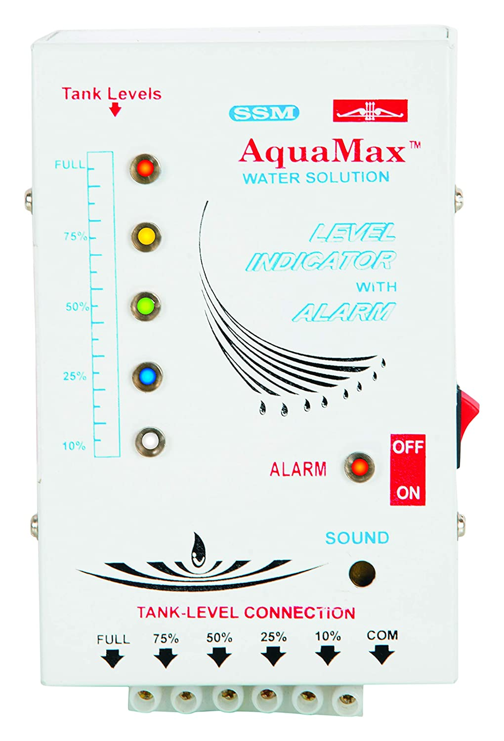 Ssm Aquamax Manual Water Level Indicator With 5 Levels 15 Audio By 741 Meters Wire Sensor Home Improvement