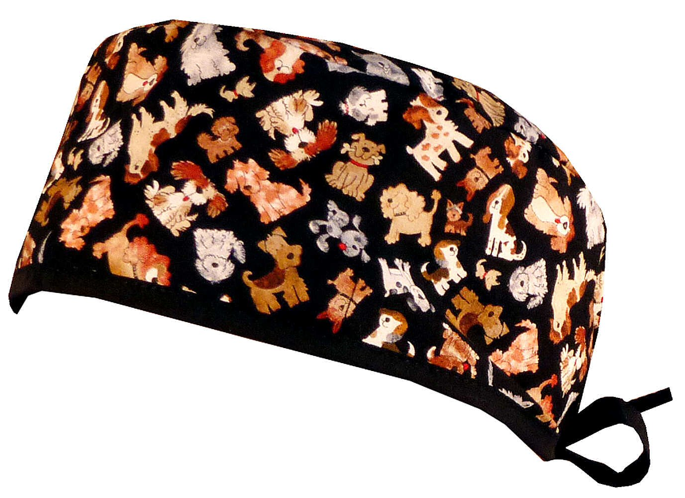 Mens and Womens Surgical Scrub Cap - Tossed Dogs by Sparkling Earth