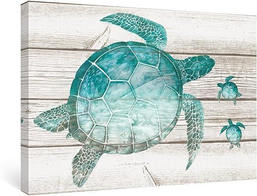 Amazon Com Sumgar Wall Art Bathroom Blue Ocean Pictures Coastal