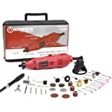 WORKSITE 121 Pieces Rotary Tool Kit with Diamond Cutting Wheels,Engraving Cutters, Sanding Paper, Wire Brush,Grinding Shanks,Sanding Drum, Magnet Wristband, for House-around and Crafting Projects