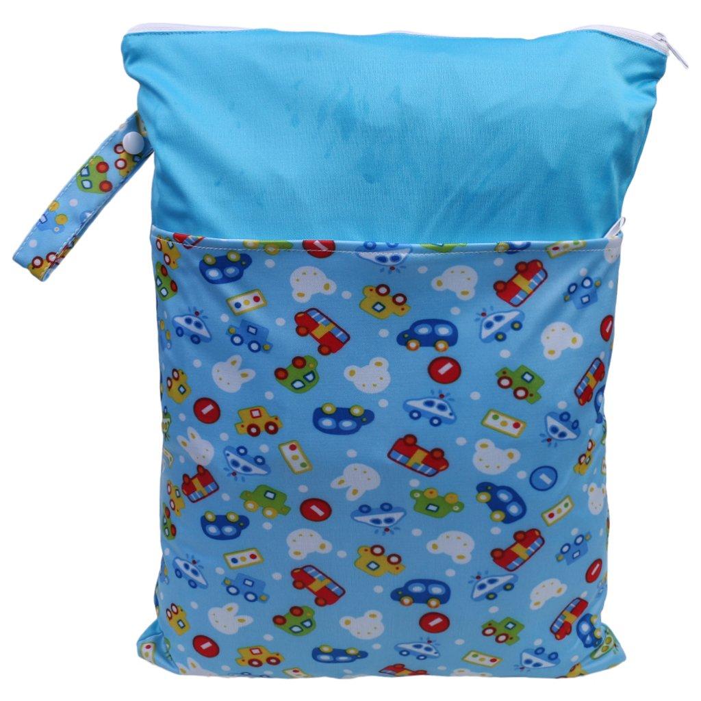 MagiDeal Cremallera Impermeable Bebé Infantiles Pañal Pañal Bolsa Bolsa Reutilizable Dinosaurio - Azul: Amazon.es: Bebé
