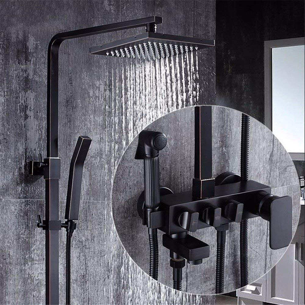 15 The rain Shower, taps, Articles of European Style Black Articles of valves, The Pressure, The Whole of Copper Wall Nature, Ancient Four Sprinkler Block Close, A2