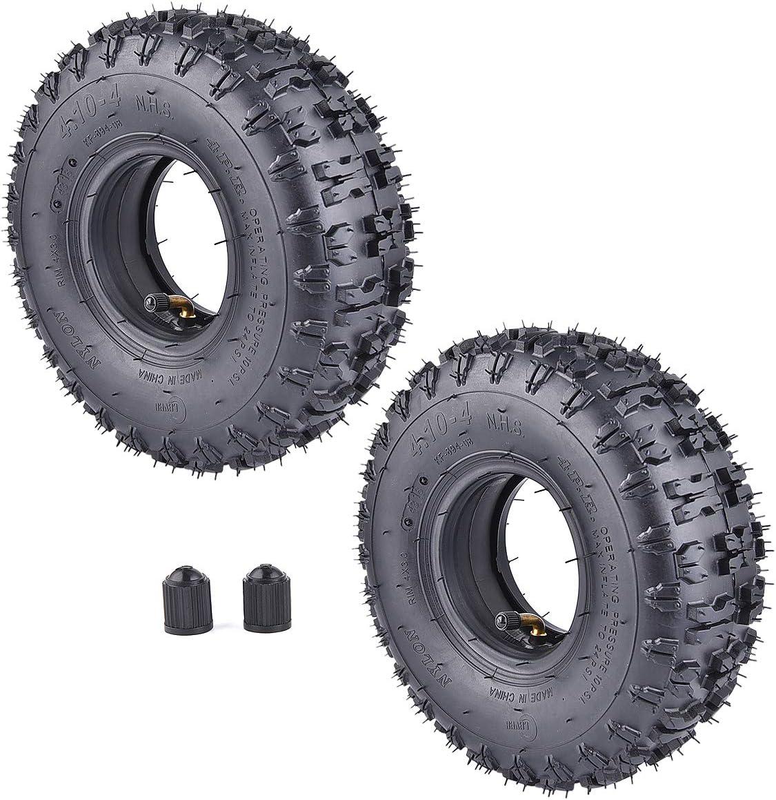 Inner Tube for Garden Rototiller Snow Blower Go Cart Kid ATV wingsmoto 4.10-4 410-4 4.10//3.50-4 Tyre Tire