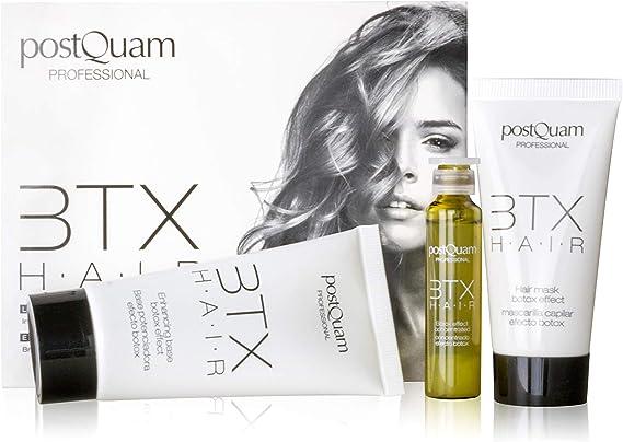 Postquam - Fiber BTX Hair | Kit Tratamiento Pelo Efecto Botox Capilar - Base, Mascarilla y Concentrado