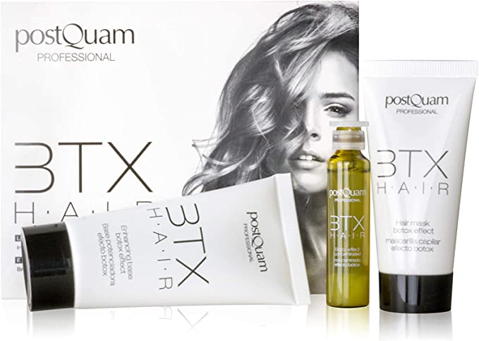 Postquam - Fiber BTX Hair   Kit Tratamiento Pelo Efecto Botox Capilar - Base, Mascarilla y Concentrado: Amazon.es: Belleza