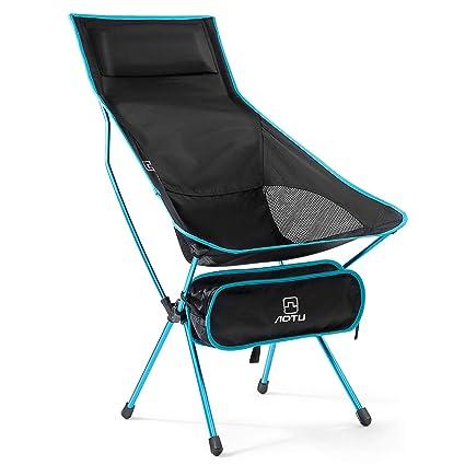 OUTAD Silla de Camping Plegable con Bolsa portátil, Silla para Acampada Ultraligero Carga hasta 145 KG, Ideal para Camping, Pesca, Picnic y ...