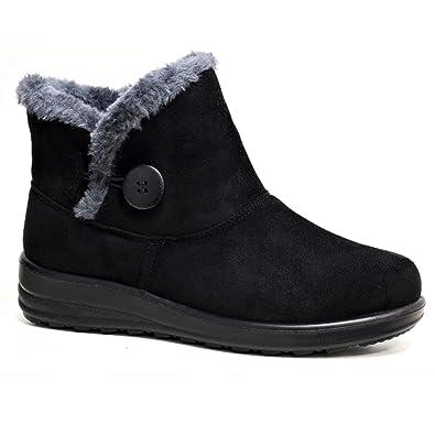 c98e3832f9b Cushion Walk Olivia Boots Black  Amazon.co.uk  Shoes   Bags
