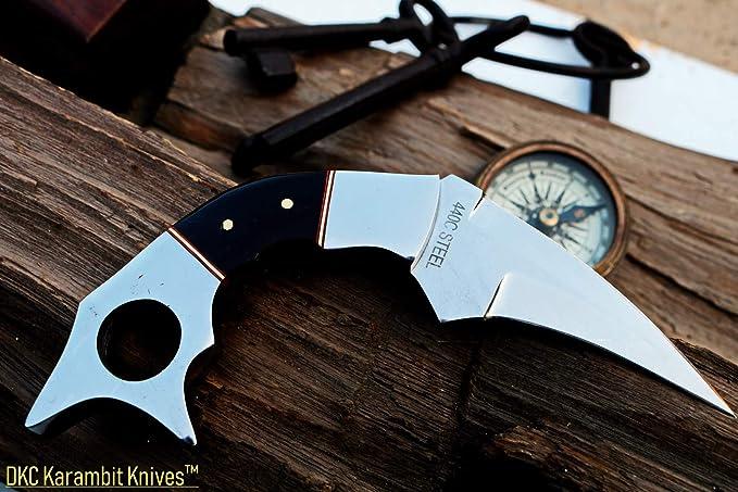 Amazon.com: Cuchillos DKC DKC-132-440c Lucifer Karimbit de ...