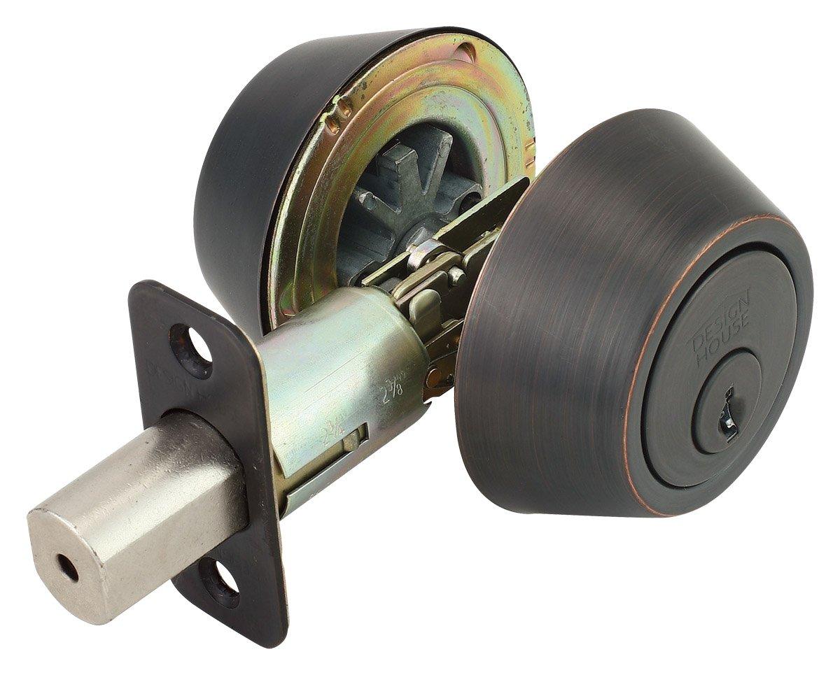 Design House 750760 Pro Double Cylinder Deadbolt, Oil Rubbed Bronze