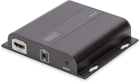 DIGITUS Professional 4K HDMI Extender Schwarz IP f/ähig und Direktverbindung Cat 5, 5e, 6 bis zu 253 Empf/änger Aufl/ösung 3840x2160p mit 30 Hz Empf/ängereinheit