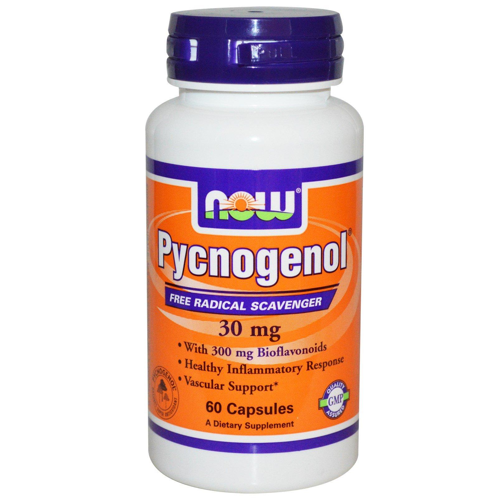 NOW Foods - Pycnogenol Free Radical Scavenger 30 mg. - 60 Capsules
