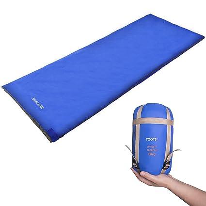 Toots Compacto Saco de Dormir, Impermeable y Ultraligero, para 8-15 Grados Primavera, Verano y Otoño Camping Al Aire Libre