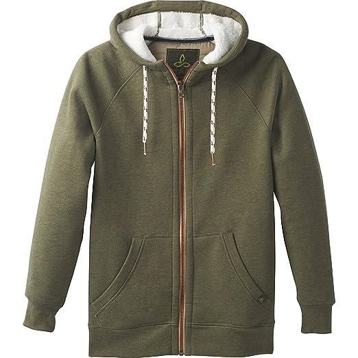 a5e406c4e2 Amazon.com: prAna Lifestyle Full Zip Lined Hood, Cargo Green, XX ...