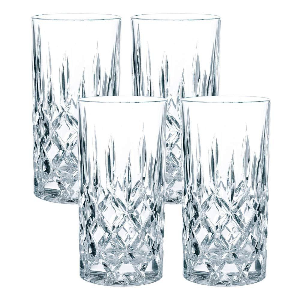 Juego de 4 elegantes vasos largos. Son robustos e ideales para licores.