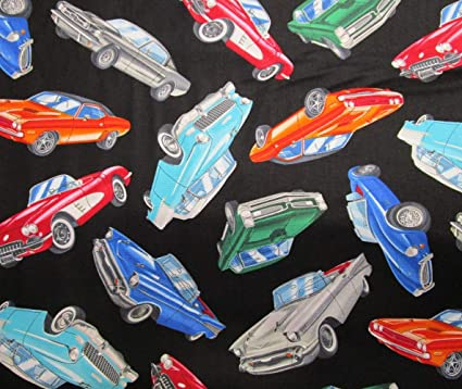 Amazon Com Classic Cars From Timeless Treasures 100 Cotton Quilt