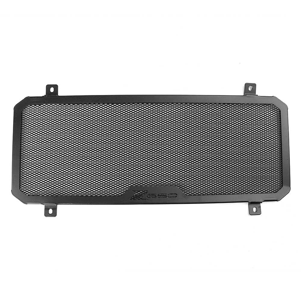 Timmart Black CNC Radiator Guard Grill Oil Cooler Cover Fits for For Kawasaki Z650 2017 2018