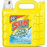 Sun Ultra Liquid Laundry Detergent Plus Oxi, Original Fresh, 250 Ounces, 140 Loads