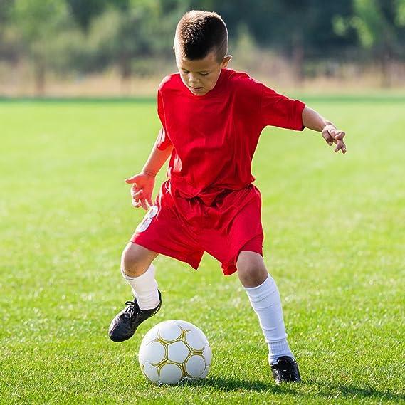 SUMKIA LIFE Calcetines de Fútbol para Niños Calcetas de Compresión Deportivas para Chicos Medias Largas de Soccer de Algodón Elástico Transpirable ...