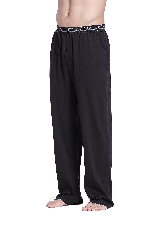 CYZ Mens 100/% Cotton Knit Pajama Pants