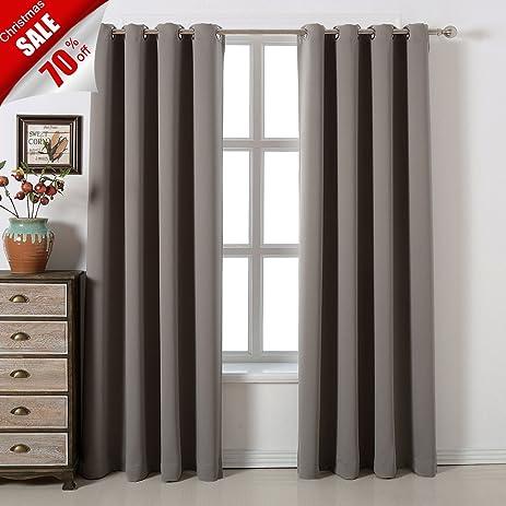 Amazon.com: Blackout Bedroom Curtains Set ¨C 100% Polyester ...