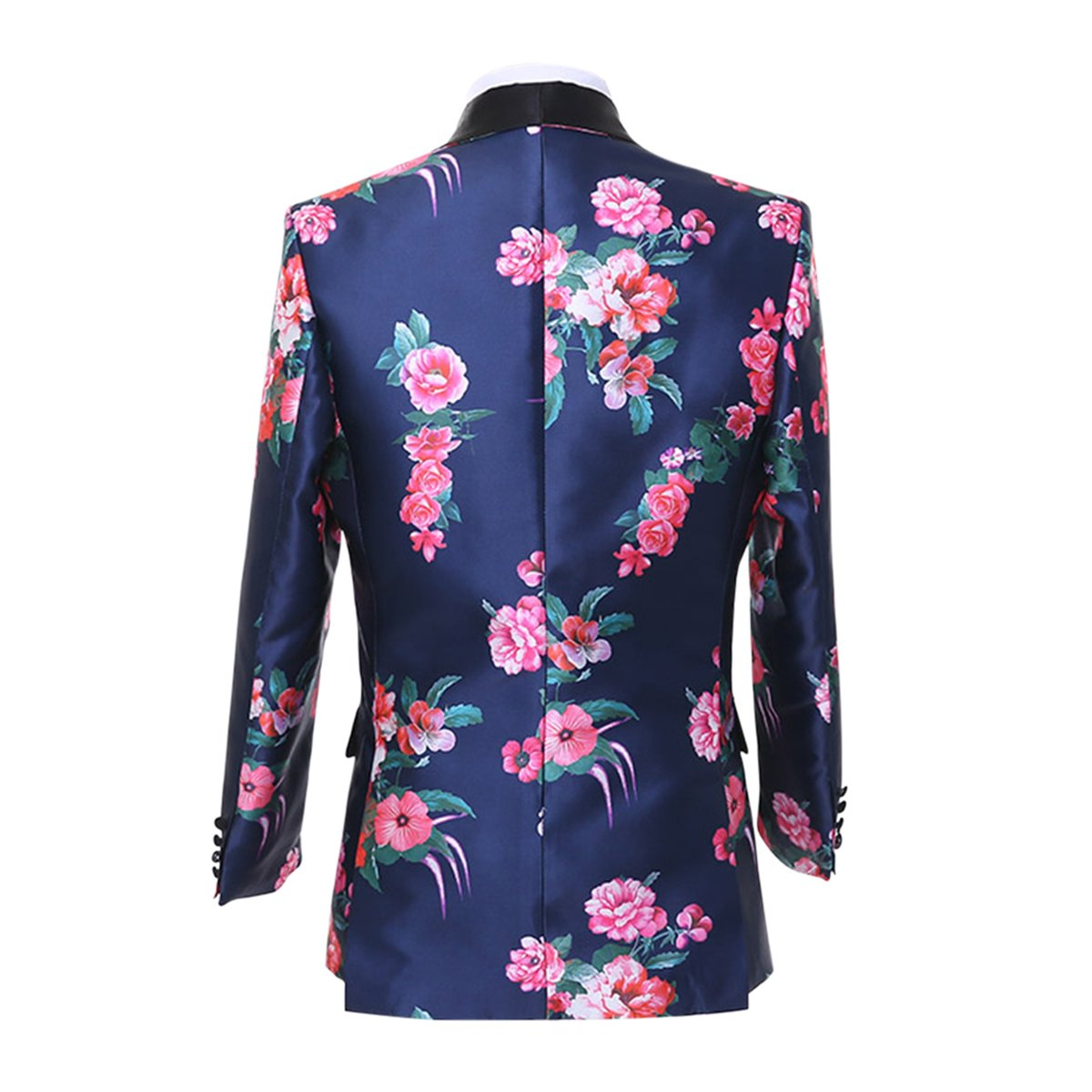 Cloudstyle Mens Suit Fit 2-Piece Single Breasted Blazer Floral Dress Tuxedo Party Formal Jacket&Trousers by Cloudstyle (Image #5)