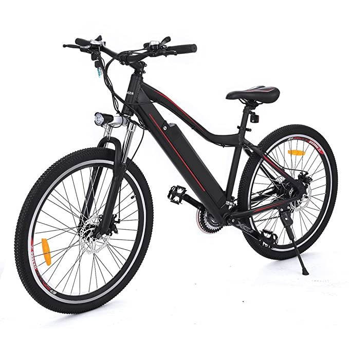 aceshin Bicicleta Eléctrica de Montaña, Shimano 21 velocidad ...