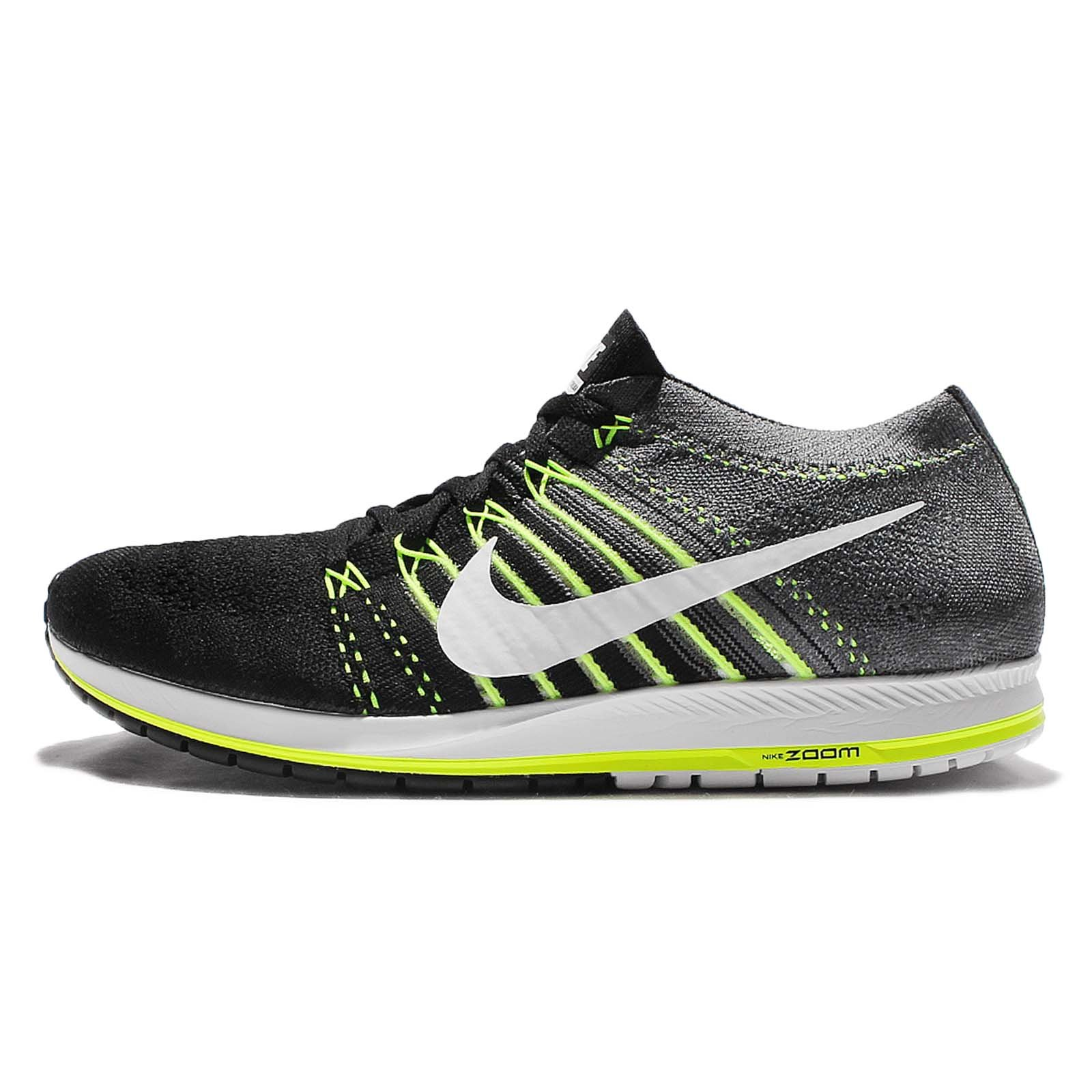 c1a71edf01a35 Galleon - Nike Flyknit Streak Running Shoes Black White Dark Grey Volt  835994 001