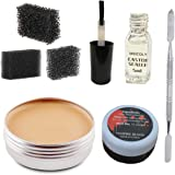 Meicoly Makeup Skin Wax Special Effects Halloween Set Stage Fake Wound Scar,Moulding Scars Wax with Spatula, Black…
