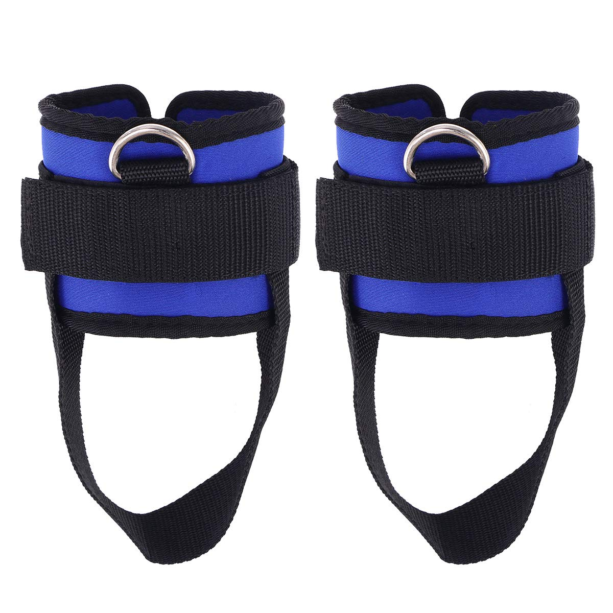 VORCOOL Sport Ankle Strap Padded d-Ring Ankle Cuffs for Gym Workouts Cable Machines Butt and Leg Weights Exercises 2pcs (Blue)