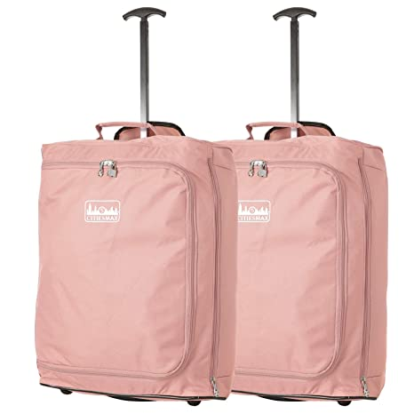 4b15f1e0a033e 55x40x20cm Ryanair 42L Maximal-Größe Kabine Handgepäck kabinenzugelassene  Koffer Trolley Tasche (Rosegold)