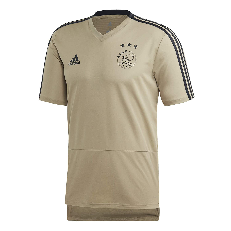 1cb84c828a3 Amazon.com   adidas 2018-2019 Ajax Training Football Soccer T-Shirt Jersey  (Raw Gold)   Sports   Outdoors