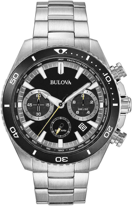 Bulova Reloj Cronógrafo para Hombre de Cuarzo con Correa en Acero Inoxidable 98B298