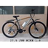 Cosmic Jus Bike 27.5 MTB Bicycle (21 Speed) Grey/Orange