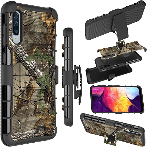 Amazon Com Galaxy A50 Case Galaxy A50 Holster Case Zoeirc Heavy Duty Armor Shock Proof Dual Layer Phone Protective Case Cover With Kickstand Belt Clip Holster For Samsung Galaxy A50 Camo
