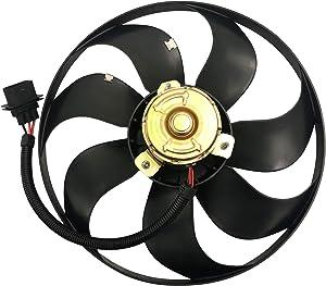MYSMOT Left Side Engine Cooling Fan Motor For Audi TT 2000-2002 / Audi TT Quattro 2000-2006 / Volkswagen Beetle 1998-2006 / VW Golf 1999-2006 / VW Jetta 1999-2005 / 6X0959455F 1J0959455F