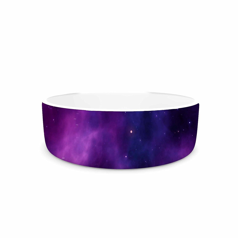 KESS InHouse Chelsea Victoria Infinity  Purple Fantasy Pet Bowl, 7