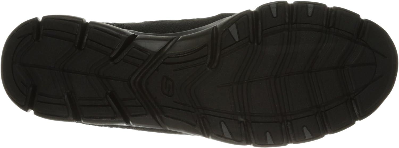Skechers Sport Women's Gratis Bungee Fashion Sneaker Black Knit