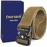 Fairwin Cinturón táctico, cinturones de estilo militar, correas de cinturón web con hebilla de metal de liberación rápida y alta resistencia