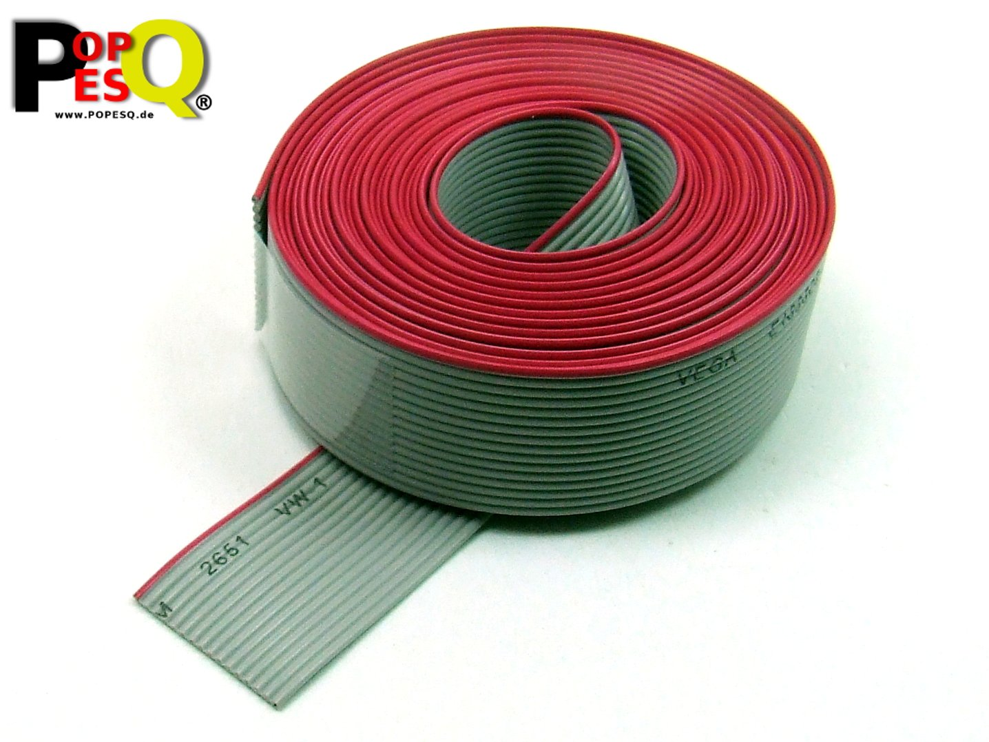 3 m x Flachbandkabel 8 polig 1.27mm für 2.54mm Verbinder #A1508