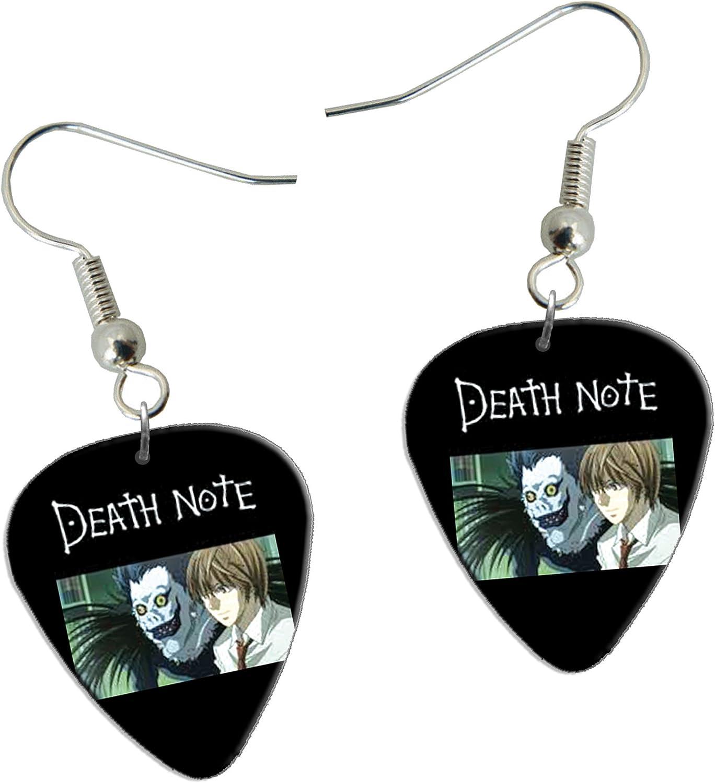 Death Note Guitarra Plectro Earrings Pendientes F1